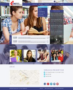 Layout Website ĐH CN TPHCM