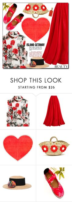 """Untitled #1652"" by shoaleh-nia on Polyvore featuring Ganni, Reem Acra, ban.do, Muzungu Sisters, Eugenia Kim and Hampton Sun"
