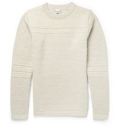 S.N.S. Herning Textured-Knit Wool Sweater    MR PORTER