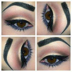 Hooded Eye Makeup – Great Make Up Ideas Grey Eye Makeup, Sleek Makeup, Hooded Eye Makeup, Makeup For Brown Eyes, Neutral Eyeshadow, Blue Eyeshadow, Simple Makeup, Makeup Tips, Beauty Makeup