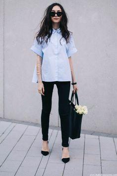 Classic shirt style #chic #minimal