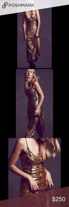 Free People Million Dollar Sequin Holiday Dress XS No flaws, excellent condition Free People Dresses Maxi