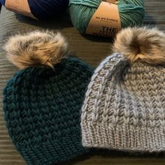 Chunky Hat Pattern, Knit Beanie Pattern, Crochet Slouchy Hat, Knitted Headband, Knitted Hats, Crochet Hats, Free Crochet, Chunky Yarn, Chunky Knits