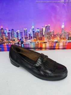 Womens shoes GH BASS & CO Weejuns blk VTG Classic kiltie moc Dress Loafer sz 9 N #Bass #LoafersMoccasins