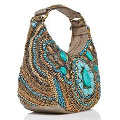 boho purses | Mary Frances, Mantra Beaded Hobo ~~ | Boho bags