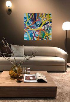 Interiør med maleri Legend 100 x100 cm Interior, Kunst, Indoor, Interiors
