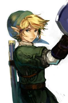 Why does Link not look like this in the Zelda games I have played...? I would spend so much time on video games if so. Great art.