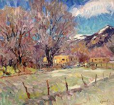 """Walt Gonske (American, born 1942)   """"Early March in El Prado"""""""