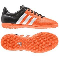 adidas Youth ACE 15.4 Turf Soccer Shoes (Solar Orange)