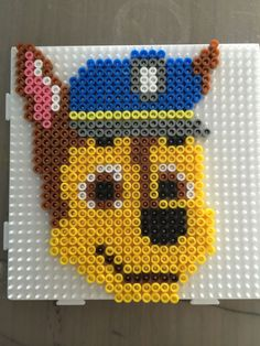 Billedresultat for paw patrol perler beads Melty Bead Patterns, Hama Beads Patterns, Beading Patterns, Embroidery Patterns, Perler Beads, Perler Bead Art, Fuse Beads, Motifs Perler, Perler Bead Templates