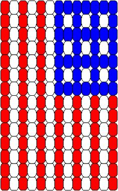 Flag Pattern for Pony Bead Loom