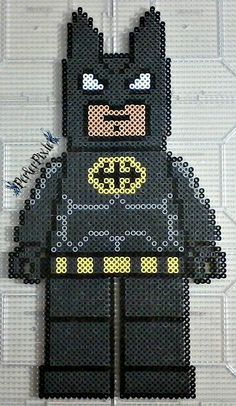 Lego Batman Without Cape perler beads by PerlerPixie