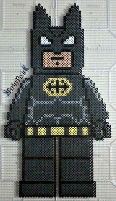 Lego Batman Without Cape perler beads by PerlerPixie