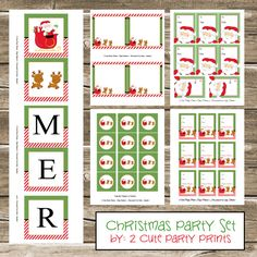 Today as promised I have a Christmas Party Set :) This set includes: a banner that says Merry Christmas, cupcake toppers, stickers, gift tags and food labels.