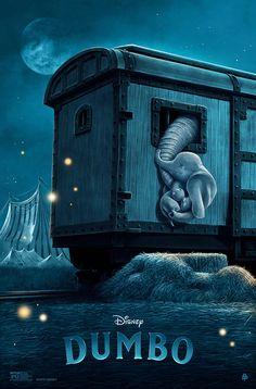 "Poster Posse X Disney's ""Dumbo"" – Poster Posse Disney Animated Movies, Pixar Movies, Disney Films, Disney Pixar, Disney Live, Disney Magic, Disney Art, Film Tim Burton, Dumbo Movie"