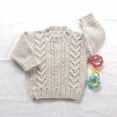 Aran baby sweater 6 to 12 months Knit Aran by LurayKnitwear