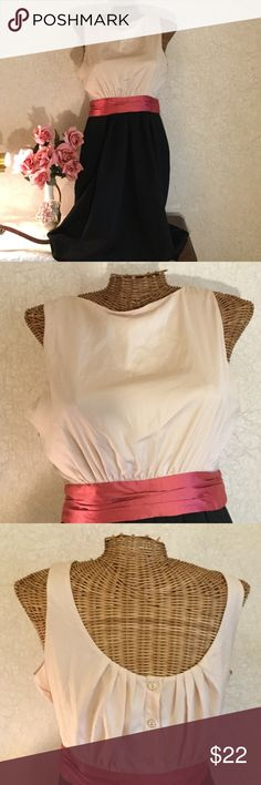Selling this NWT Pink, Cream, and Black Dress on Poshmark! My username is: royalmeadow7. #shopmycloset #poshmark #fashion #shopping #style #forsale #New York & Company #Dresses & Skirts