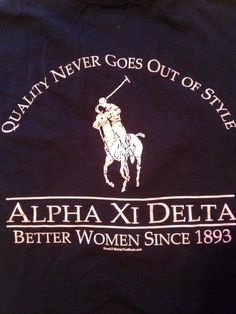 Alpha Xi Delta Polo Shirt