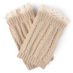 Journee Collection Women's Lace Cable Boot Cuffs, Adult Unisex