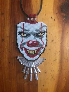 Pennywise Clown peyote beaded necklace
