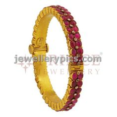 Antique ruby bangle by Prince jewellery - Latest Jewellery Designs