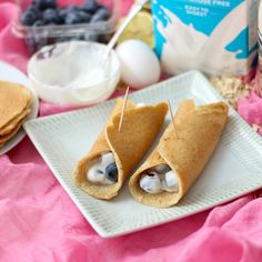 Yogurt and Blueberry Crepes | Living Well Kitchen