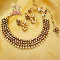 Antique Polki & Pearl Necklace
