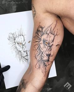 Tattos with Meaning – Meaningful tattoos Lion Forearm Tattoos, Lion Head Tattoos, Tattoos Arm Mann, Leo Tattoos, Cartoon Tattoos, Arm Tattoos For Guys, Tattoo Girls, Body Art Tattoos, Female Tattoos