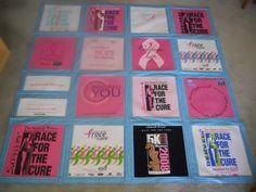 breast cancer survivor t-shirt quilt i made for my mom!