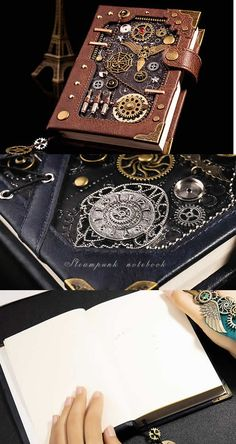 Cool Office Supplies, Cute Notebooks, Leather Notebook, Office Gifts, Chanel Boy Bag, Industrial Style, Louis Vuitton Monogram, Classic Style, Steampunk