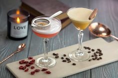 Our new espresso martini & cranberry creme brulee cocktails #MadeLovingly