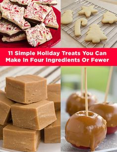 11 Simple Holiday Treats You Can Make In Four Ingredients Or Fewer