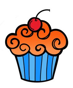 birthday clip art photo pictures and images - Cupcake Candle Coloring Page