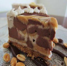 Vegan Peanut Butter Chocolate Banana Cheesecake. Wow!