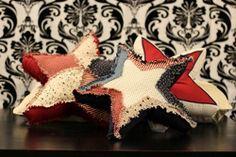 All Americana Stars Pillow Tutorial