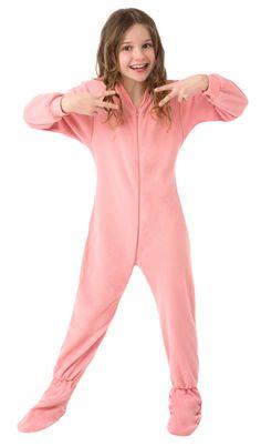 Kids Big Feet Pajamas Pink Fleece One Piece Footy $36 - SHOP http://www.thepajamacompany.com/store/kids-big-feet-pajamas-pink-fleece-one-piece-footy.html