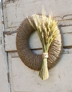 Fall wreath Autumn wreath Harvest wreath Summer by florasense