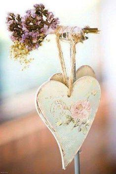 Pretty little heart - Ana Rosa I Love Heart, Happy Heart, Grateful Heart, Decoupage, Vintage Shabby Chic, Shabby Chic Style, Vintage Style, Manualidades Shabby Chic, Decoration Shabby