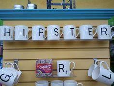 Scrabble coffee mugs! Found these shopping in downtown Sioux Falls during crazy days. :)