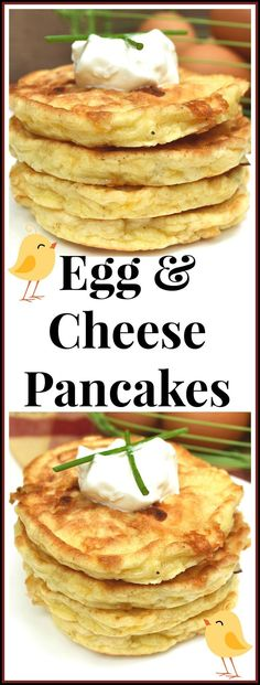 Perfectly Simple & Delicious Savory Egg and Cheese Pancakes / Griddlecakes | Savory Pancakes | Quick, Easy, Unique Egg Dish | http://craftycookingmama.com