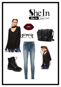 """""""Untitled #4"""" by nevresa-22 ❤ liked on Polyvore featuring Yves Saint Laurent, Lime Crime and G.H. Bass & Co."""