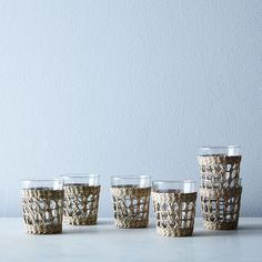 Seagrass Cage Carafe & Tumblers on Food52