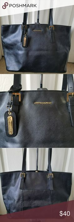 Cynthia Rowley Black Leather Tote Bag Good Pre-owned Condition. Fast immediately Priority Shipping! Please visit my closet for additional designer items.Thank you. Cynthia Rowley Bags Totes