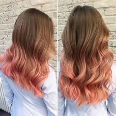 Rose pink ombre hair