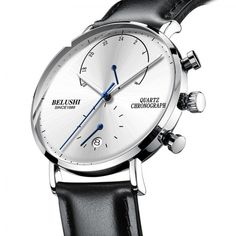 Mens Waterproof Watches Leather Strap Slim Quartz Casual Business Mens Wrist Watch Top Brand Belushi from Watches Extreme - Men's style, accessories, mens fashion trends 2020 Sport Watches, Luxury Watches, Watches For Men, Silver Watches, Nice Watches, Cheap Watches, Wrist Watches, Watches Online, Leather