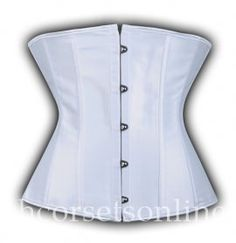 Superior Quality Generous White Satin Underbust Corset Bustier Tops Online