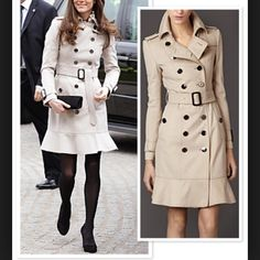 Burberry trench coat kete Middleton style New 100% authentic or money back size 4 Burberry Jackets & Coats Trench Coats