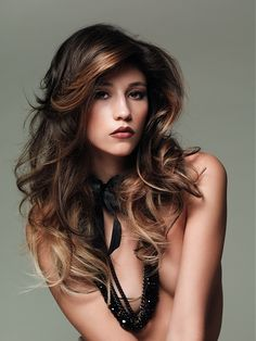 Highlights For Dark Hair. I, however, would be wearing a shirt lol.