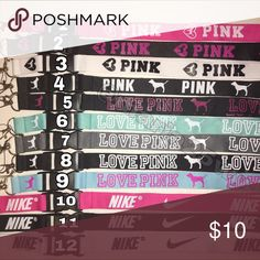 New🎉 Choose 2 Lanyards• vs• LOVE PINK• Nike Simply choose by commenting which number u would like ONCE purchase has been made in the comments ⬇️  Lanyards  No tags❌ Not accepting OFFERS on INDIVIDUAL ITEMS ❌ No trades ❌                                                                              Prices are FIRM ✅  🔅•Prices for Bundles •🔅 1 lanyard $6 2 lanyards $10 3 lanyards $13 4 lanyards $15 5 lanyards $18 6 lanyards $21  Tags: id holder, badge, Keychain Nike Accessories Key & Card…