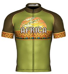 Africa Collection Bike Wear, New Africa, Cycling Jerseys, Cycling Outfit, Apparel Design, Jersey Shorts, Bibs, Training, How To Wear